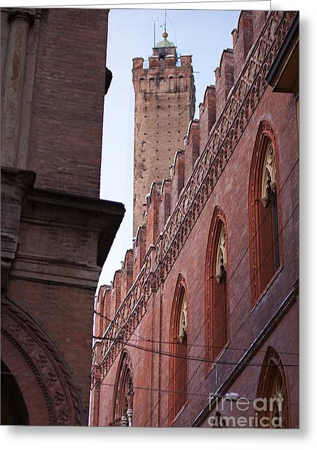Police Art Greeting Cards - Bologna Tower Greeting Card by Andre Goncalves