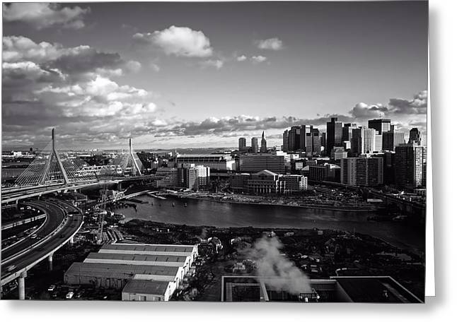 Wintry Greeting Cards - Boston At Dusk Greeting Card by Mountain Dreams