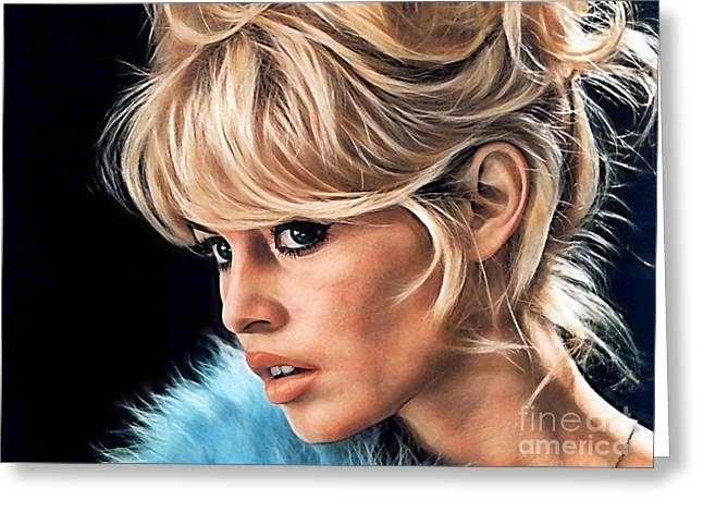 Cool Art Greeting Cards - Brigitte Bardot Collection Greeting Card by Marvin Blaine