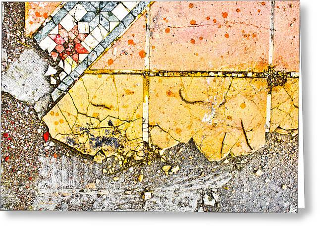 Geometric Style Greeting Cards - Broken tiles Greeting Card by Tom Gowanlock