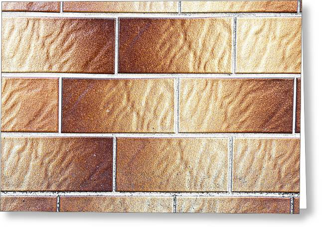 Brown Tiles Greeting Card by Tom Gowanlock