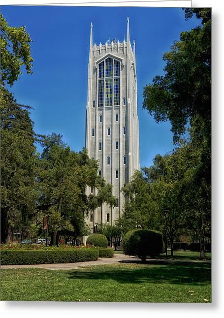Burns Tower -university Of The Pacific Greeting Card by Mountain Dreams