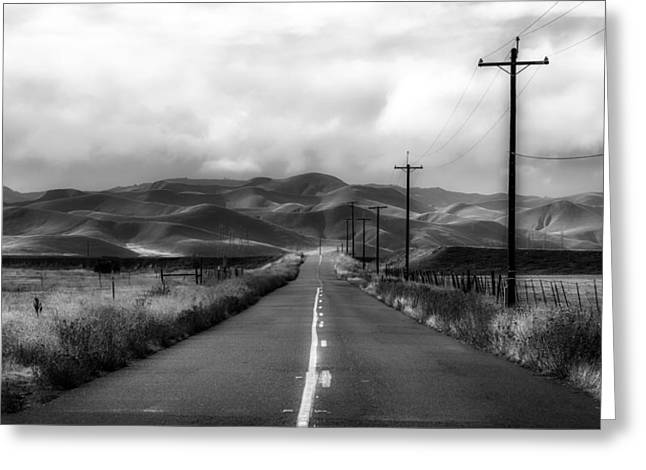 Road Travel Greeting Cards - California Country Drive Greeting Card by Mountain Dreams