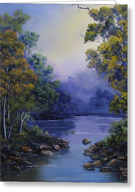 Landscapes Reliefs Greeting Cards - Calm Waters Greeting Card by John Cocoris