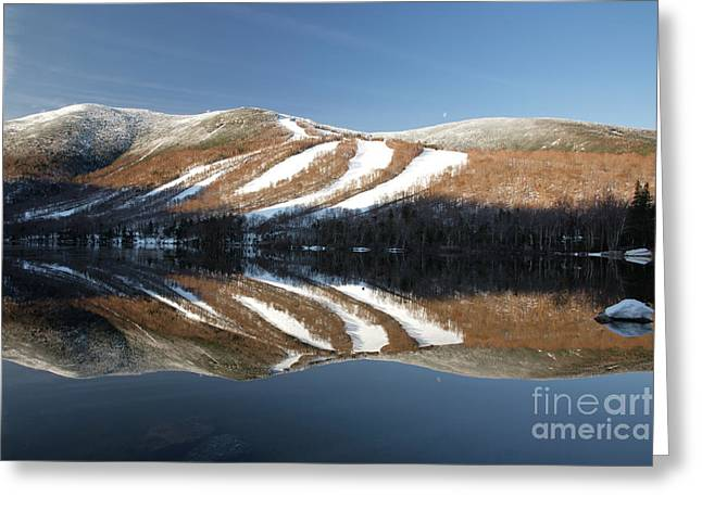 New England Snow Scene Greeting Cards - Cannon Mountain - White Mountains New Hampshire USA Greeting Card by Erin Paul Donovan