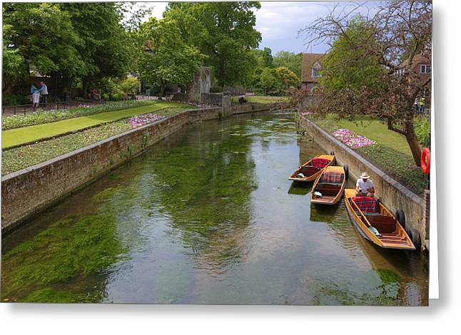 Punting Greeting Cards - Canterbury - England Greeting Card by Joana Kruse