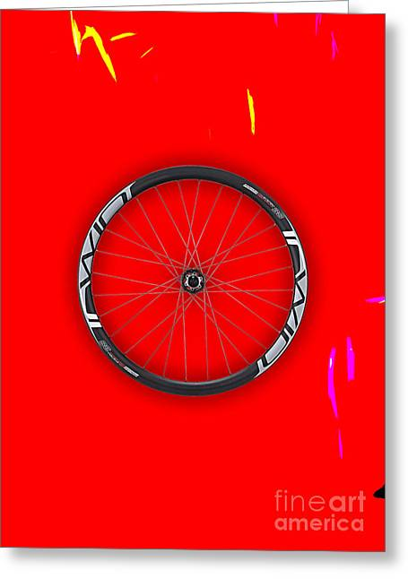 Carbon Fiber Bicycle Wheel Collection Greeting Card by Marvin Blaine