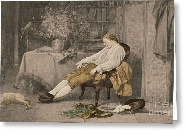Taxonomy Greeting Cards - Carl Linnaeus, Swedish Botanist Greeting Card by Science Source