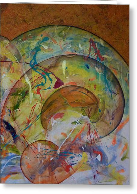 Conscious Paintings Greeting Cards - Cast Off Consciousness Series Greeting Card by Joey Dott
