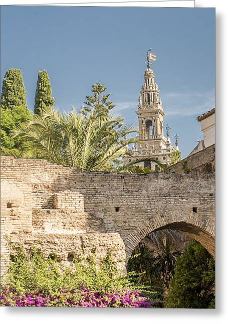 Cathedral Of Seville - Seville Spain Greeting Card by Jon Berghoff
