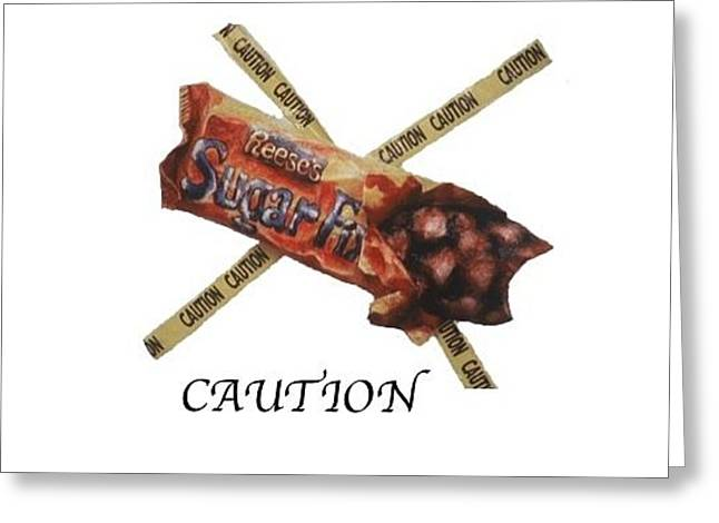 Sneaker Mixed Media Greeting Cards - Caution Greeting Card by Betty OHare