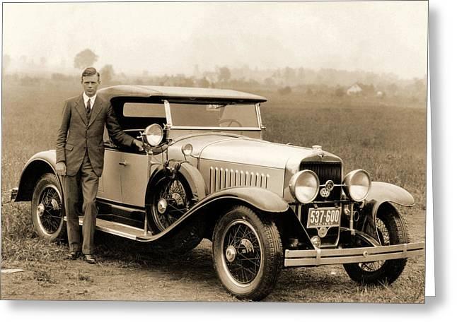 Charles Lindbergh Greeting Card by American School