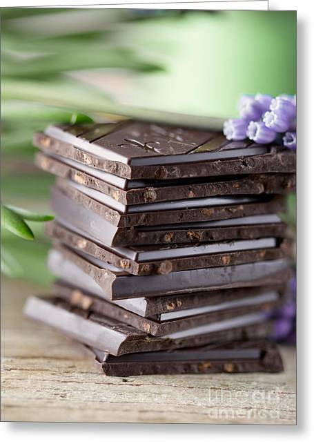 Hyacinth Greeting Cards - Chocolate Greeting Card by Nailia Schwarz