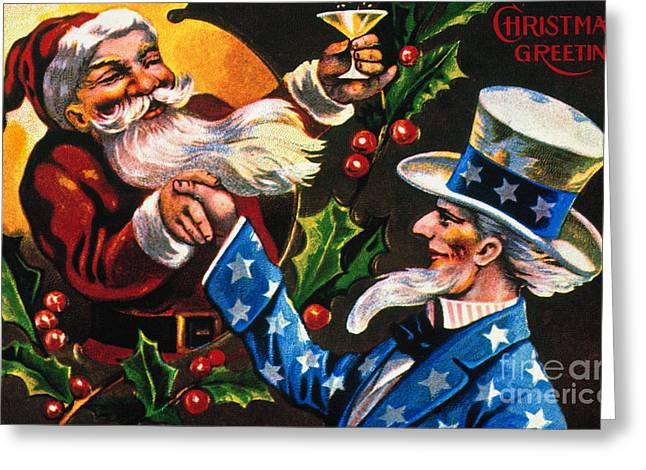 Toast Greeting Cards - Christmas Card Greeting Card by Granger