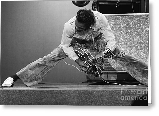 Chuck Berry Greeting Card by Terry O'Neill