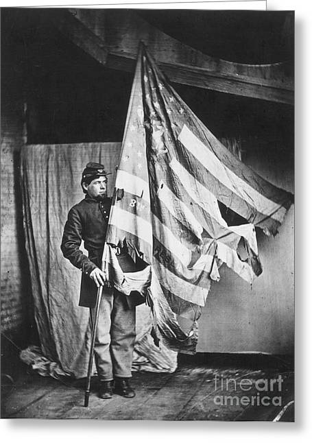 Pennsylvania Photographs Greeting Cards - Civil War: Soldier Greeting Card by Granger
