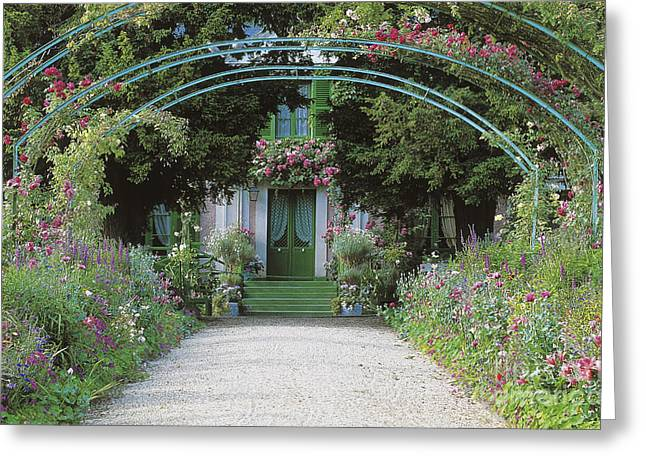 Claude Monet's Garden At Giverny Greeting Card by French School