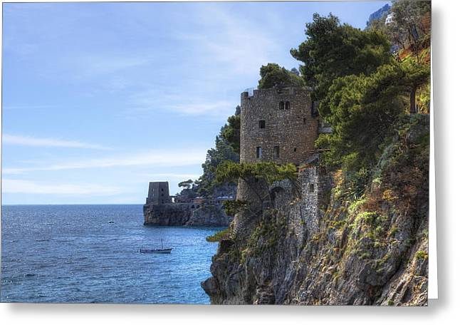 Meds Greeting Cards - Coast of Amalfi Greeting Card by Joana Kruse