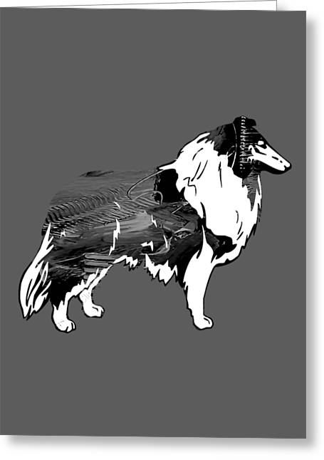 Dogs Greeting Cards - Collie Collection Greeting Card by Marvin Blaine