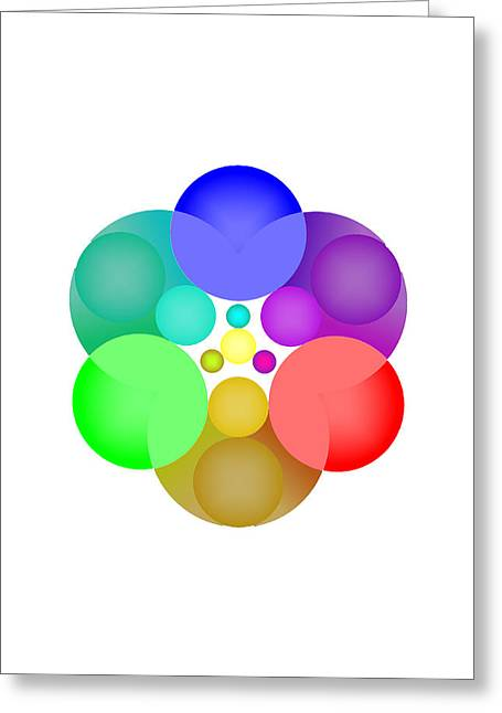 Coloured Greeting Cards - 3 Colores Greeting Card by Francisco Rodriguez