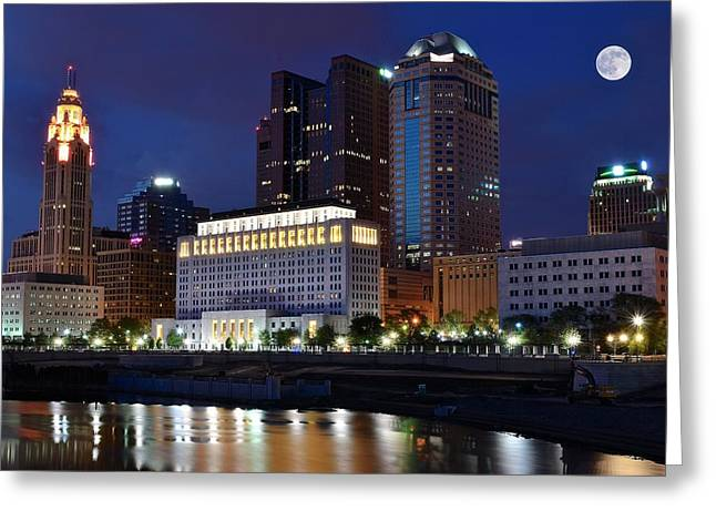 Columbus Greeting Cards - Columbus Ohio Greeting Card by Frozen in Time Fine Art Photography