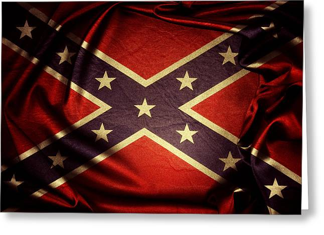 Star Wars Photographs Greeting Cards - Confederate flag Greeting Card by Les Cunliffe