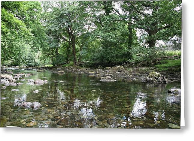 Welsh Reservoirs Greeting Cards - Conwy river near Betws y coed.  Greeting Card by Christopher Rowlands