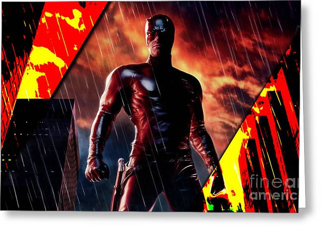 Daredevil Collection Greeting Card by Marvin Blaine