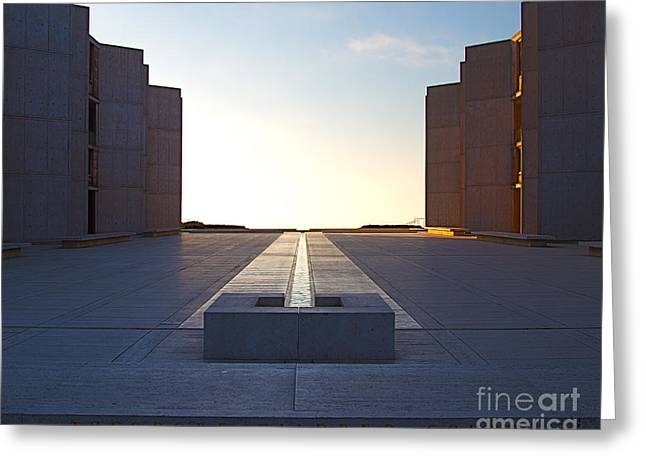 Modernism Greeting Cards - Design and Architecture of the Salk Institute in La Jolla Califo Greeting Card by ELITE IMAGE photography By Chad McDermott