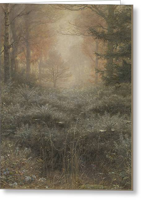 Pre-19th Greeting Cards - Dew-Drenched Furze Greeting Card by John Everett Millais