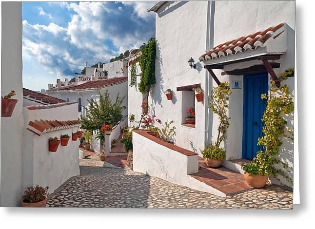 Village Street Greeting Cards - El Acebuchal, The Lost Village Or Ghost Greeting Card by Panoramic Images