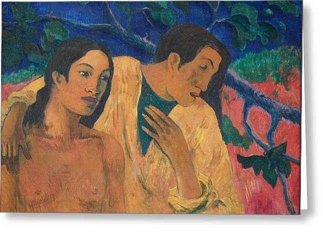 Gauguin Style Greeting Cards - Escape Greeting Card by Paul Gauguin