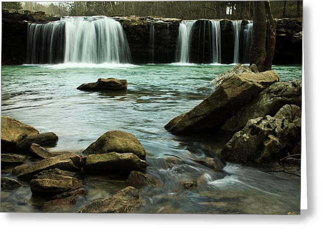 Falling Water Falls Greeting Card by Iris Greenwell