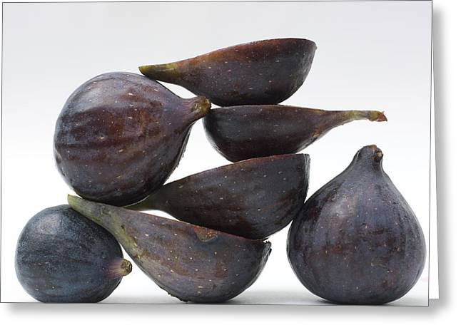 Halved Greeting Cards - Figs Greeting Card by Bernard Jaubert