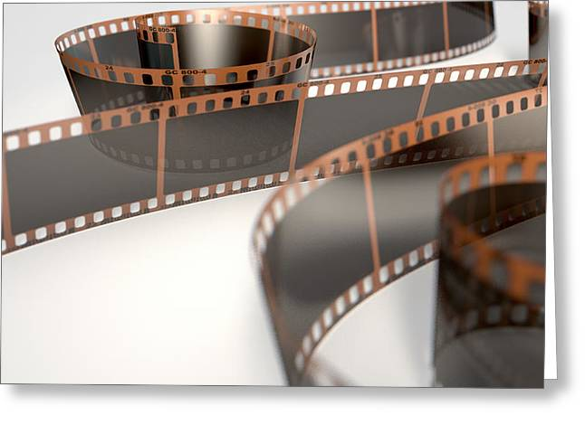 Filmstrip Greeting Cards - Film Strip Curled Greeting Card by Allan Swart