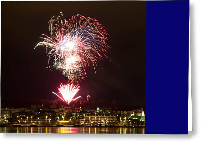 Pyrotechnics Greeting Cards - Fireworks Greeting Card by FL collection