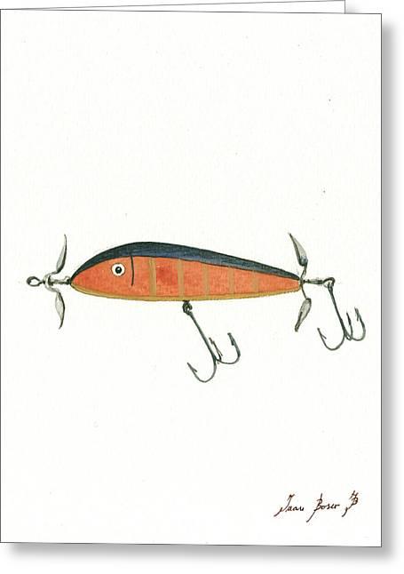 Fishing Lure  Greeting Card by Juan Bosco