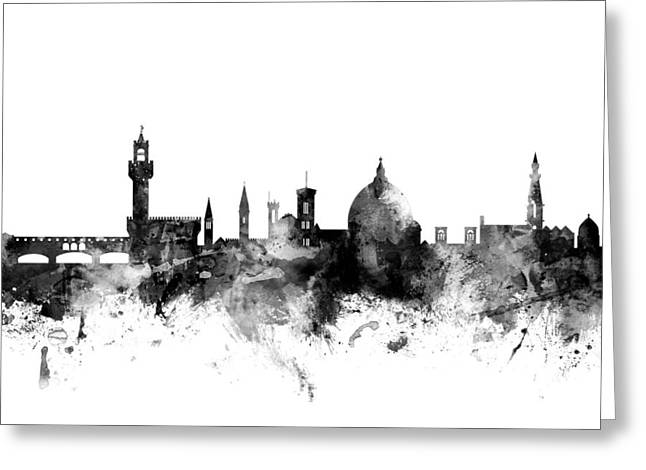 Firenze Greeting Cards - Florence Italy Skyline Greeting Card by Michael Tompsett