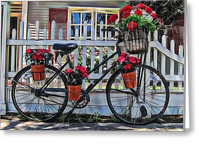 Bicycle Greeting Cards - Flower Bike Collection Greeting Card by Marvin Blaine
