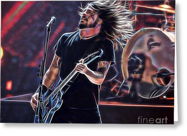 Dave Grohl Greeting Cards - Foo Fighters Collection Greeting Card by Marvin Blaine