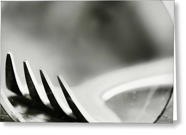 fork Greeting Card by HD Connelly