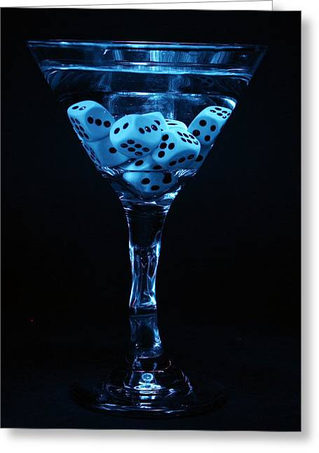 Mikeledray Greeting Cards - Gamblers Martini Greeting Card by Michael Ledray