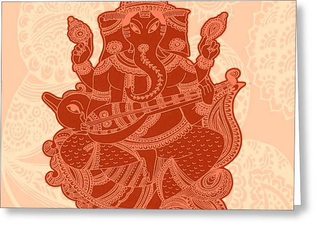 Parvathi Greeting Cards - Ganesha Greeting Card by Sketchii Studio