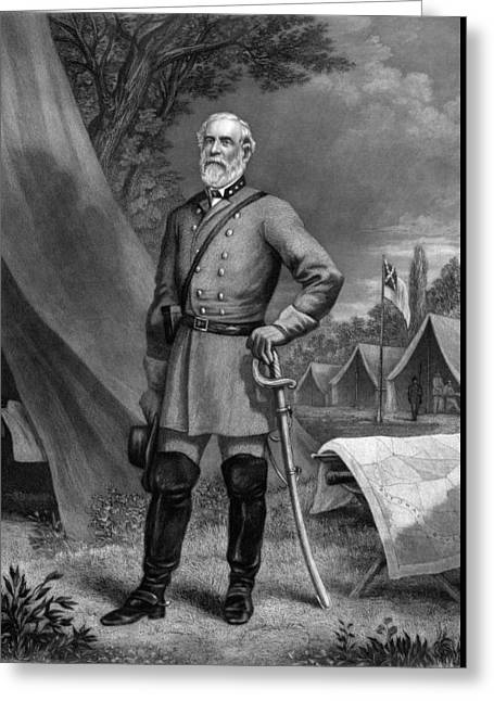 Civil War History Greeting Cards - General Robert E Lee Greeting Card by War Is Hell Store