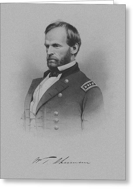 Civil Greeting Cards - General William Tecumseh Sherman Greeting Card by War Is Hell Store