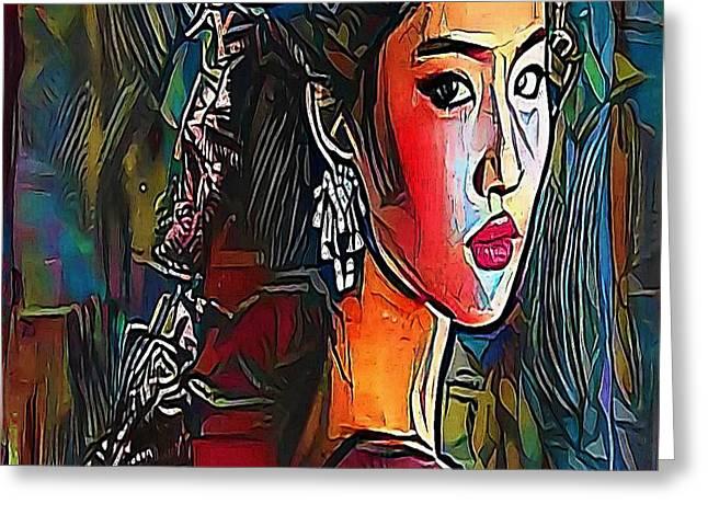girl - My WWW vikinek-art.com Greeting Card by Viktor Lebeda