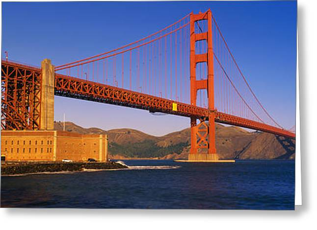 Marin County Greeting Cards - Golden Gate Bridge San Francisco Ca Greeting Card by Panoramic Images