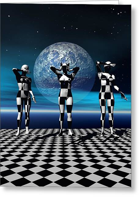 Scifi Digital Greeting Cards - 3 Graces can be found anywhere Greeting Card by Claude McCoy