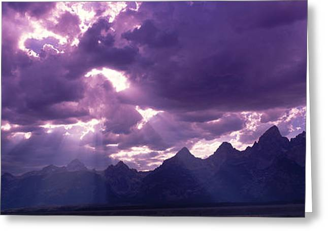 Radiates Greeting Cards - Grand Teton Park, Wyoming, Usa Greeting Card by Panoramic Images