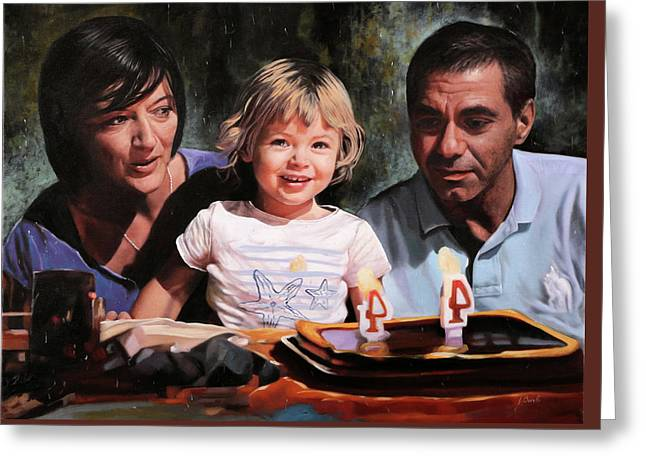 3 Greeting Card by Guido Borelli